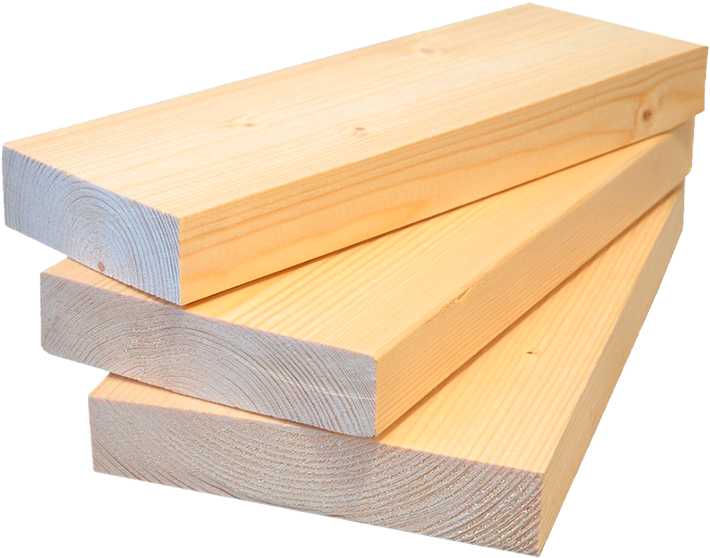 Siberian larch sawn timber.